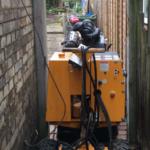 Narrow access stump removal